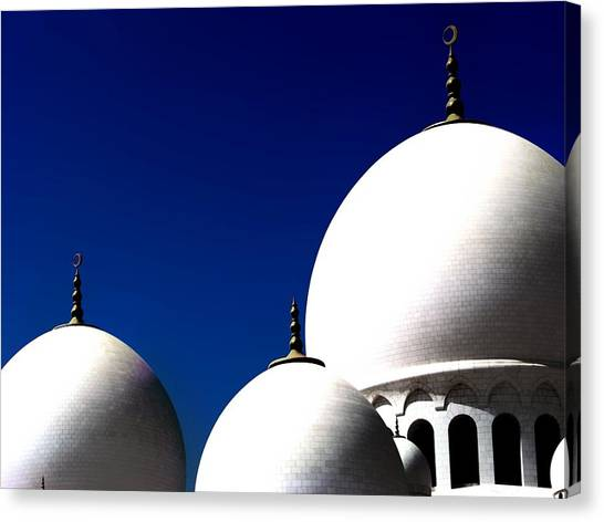 The 3 Domes Canvas Print by Peter Waters