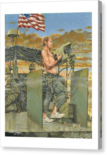 The 458th Transortation Co. In Vietnam. Canvas Print