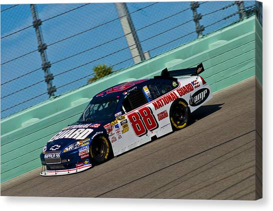 Dale Earnhardt Jr Canvas Print - The 88 Car by Kevin Cable