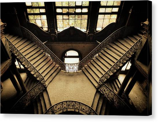 Urban Decay Canvas Print - The Abandoned Palace by Ahmed Abdulazim