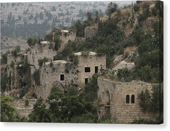The Abandoned Palestinian Village Of Lifta On The Outskirts Of Jerusalem Canvas Print by Eddie Gerald