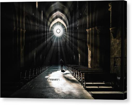 Church Canvas Print - The Abbey by Massimiliano Mancini