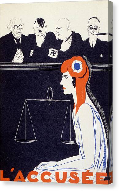Accused Canvas Print - The Accused by Paul Iribe