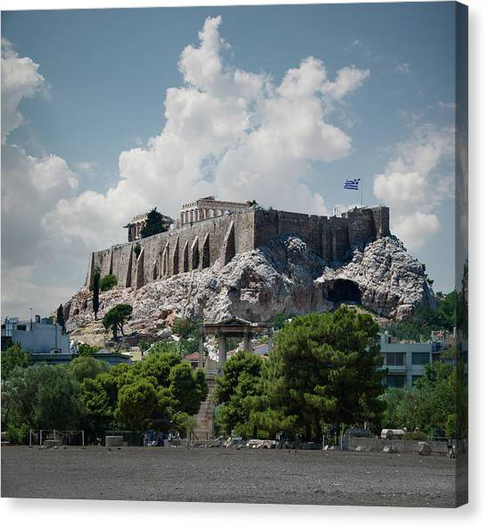 The Acropolis In Athens Canvas Print