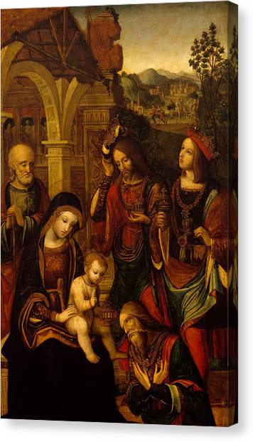 Praise The Lord Canvas Print - The Adoration Of The Kings by Neapolitan School