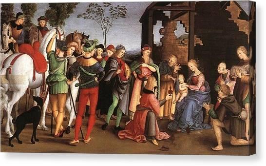 The Vatican Museum Canvas Print - The Adoration Of The Magi by Raffaello Sanzio