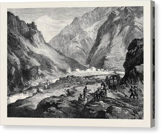 Sikh Art Canvas Print - The Afghan War Pass Of Ali Musjid In The Khyber by English School
