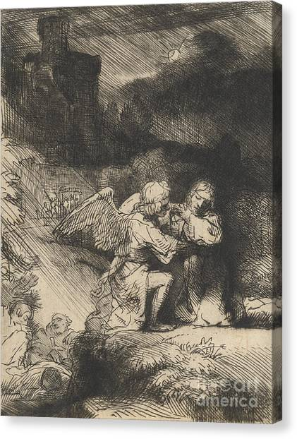 Rembrandt Canvas Print - The Agony In The Garden by Rembrandt