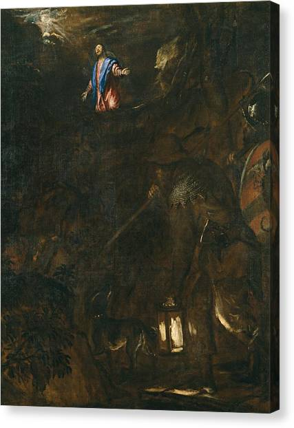 The Prado Canvas Print - The Agony In The Garden by Titian