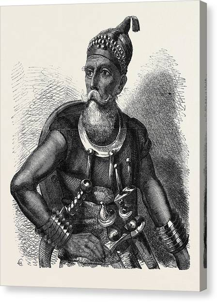 Sikh Art Canvas Print - The Akali Of The Sikhs by English School