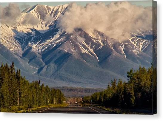 The Alaska Highway Tok Junction Alaska Canvas Print