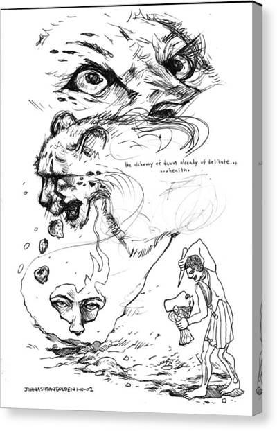 Ballpoint Pens Canvas Print - The Alchemy Of Dawn by John Ashton Golden
