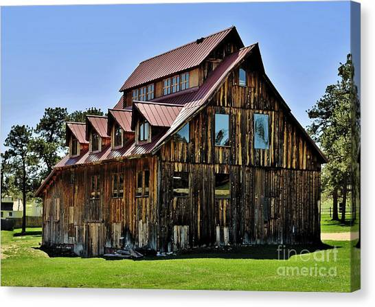 The Aldefer Barn Canvas Print by Leianne Wilson