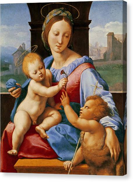 St Mary Canvas Print - The Aldobrandini Madonna Or The Garvagh Madonna by Raphael