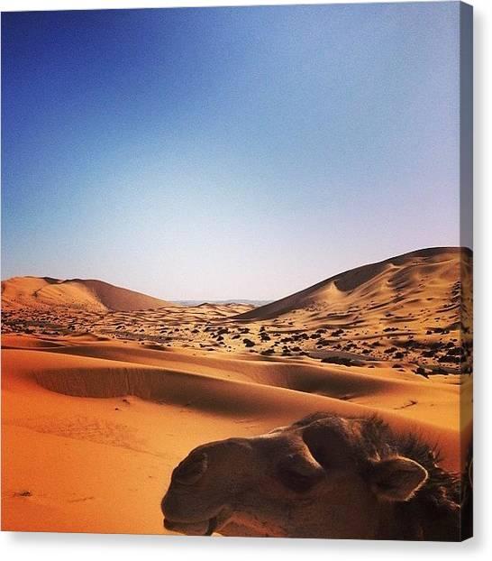 Japanese Canvas Print - The #algeria #border In #sahara #desert by Ryoji Japan