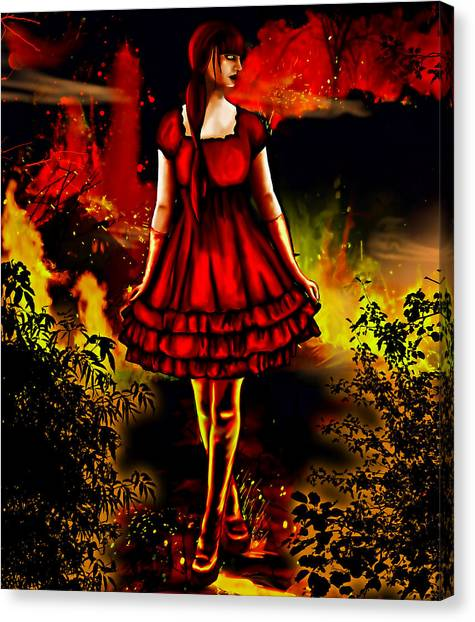 The Alice Girl Canvas Print