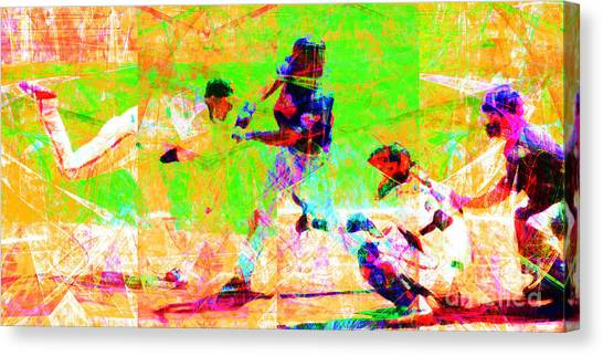La League Canvas Print - The All American Pastime 20140501 Long by Wingsdomain Art and Photography