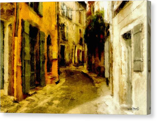 The Alley Canvas Print by Wayne Pascall
