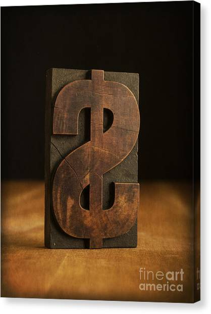Printers Canvas Print - The Almighty Dollar by Edward Fielding
