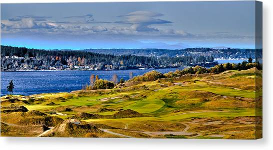 The Amazing Chambers Bay Golf Course - Site Of The 2015 U.s. Open Golf Tournament Canvas Print