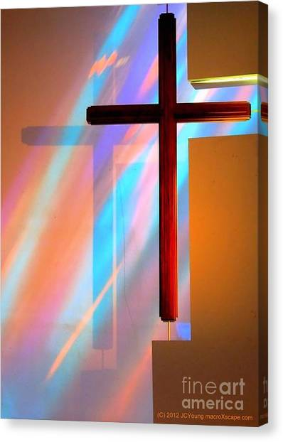 The Amazing Cross Canvas Print by JCYoung MacroXscape