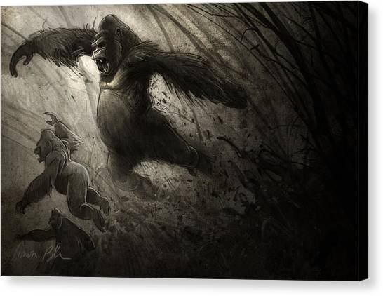 Primates Canvas Print - The Ambush by Aaron Blaise