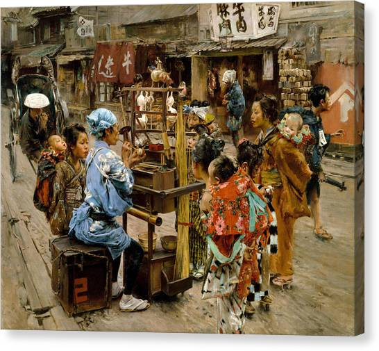 Canvas Print featuring the painting The Ameya by Robert Frederick Blum