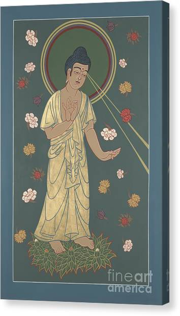 The Amitabha Buddha Descending 247 Canvas Print