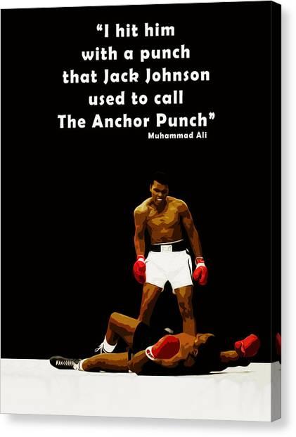 Muhammad Ali Canvas Print - The Anchor Punch by Mark Rogan