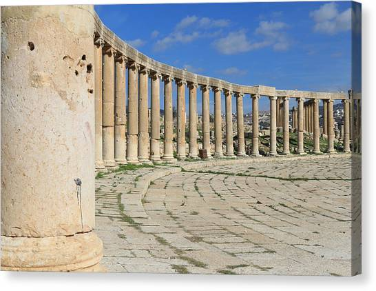 Gcc Canvas Print - The Ancient City Of Jerash by Ash Sharesomephotos