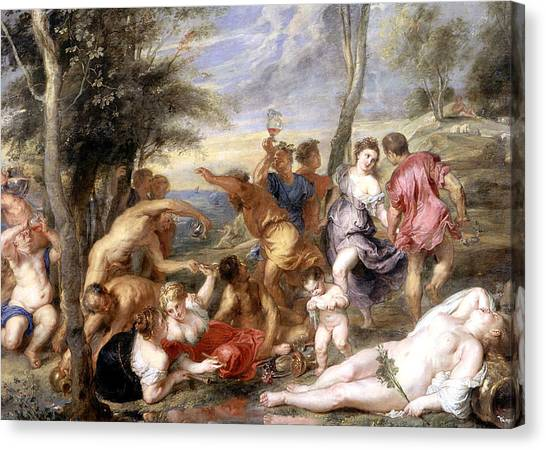 The Prado Canvas Print - The Andrians A Free Copy After Titian by Peter Paul Rubens