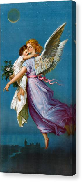 Angel Of Peace Canvas Print - The Angel Of Peace by B T Babbitt