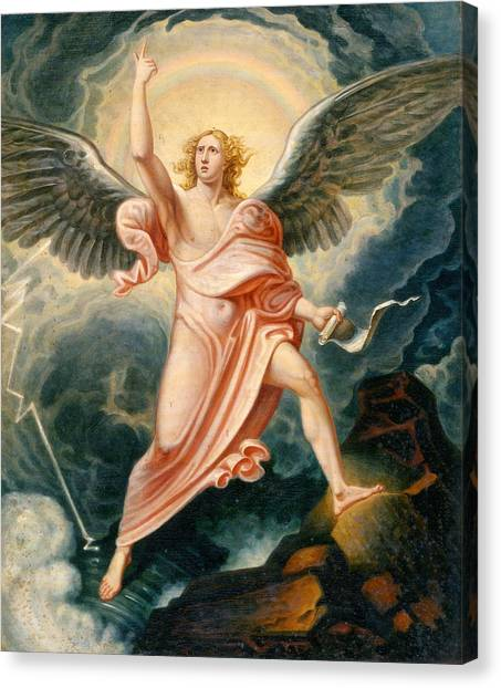 Apocalypse Canvas Print - The Angel Proclaiming The End Of Time by James Justus Tucker
