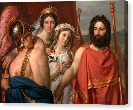 Canvas Print featuring the painting The Anger Of Achilles by Jacques-Louis David