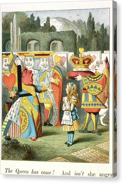 English And Literature Canvas Print - The Angry Queen. The Queen Of Hearts. by British Library