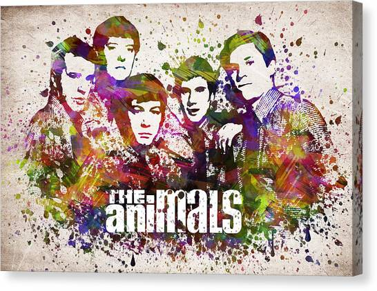 Keith Richards Canvas Print - The Animals In Color by Aged Pixel