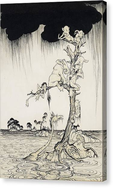 Mythological Creatures Canvas Print - The Animals You Know Are Not As They Are Now by Arthur Rackham