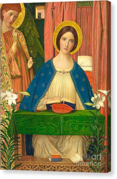 Archangel Canvas Print - The Annunciation by Arthur Joseph Gaskin