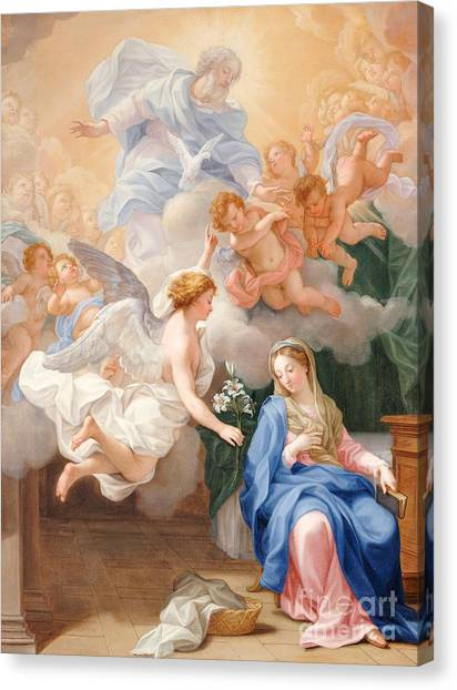 Immaculate Canvas Print - The Annunciation by Giovanni Odazzi