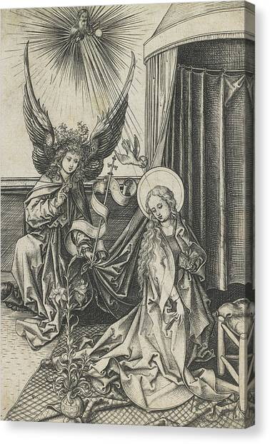 The Annunciation Canvas Print - The Annunciation by Martin Schongauer