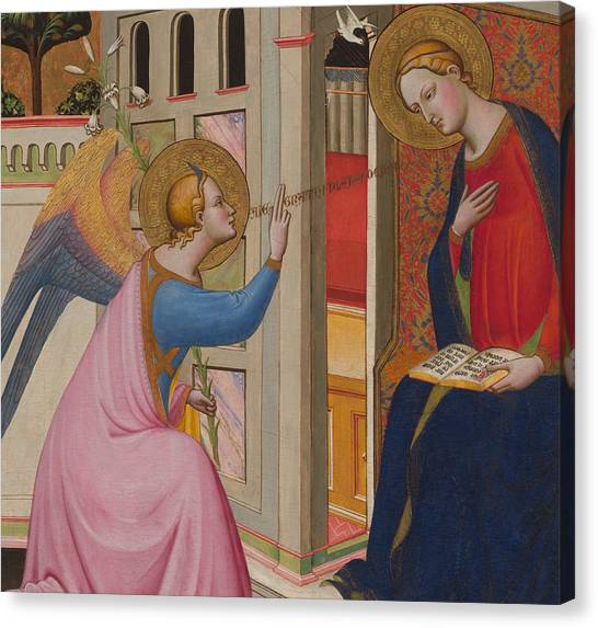 Apparition Canvas Print - The Annunciation by Master of Saint Verdiana