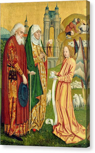 Apparition Canvas Print - The Annunciation To Joachim And Anne, From The Dome Altar, 1499 by Absolon Stumme