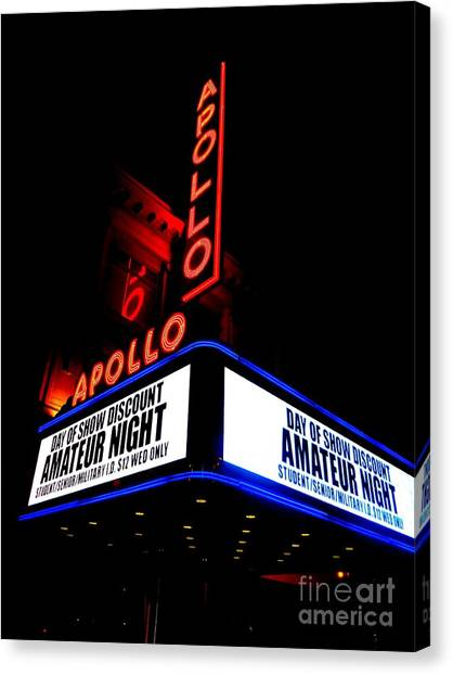 Apollo Theater Canvas Print - The Apollo Theater by Ed Weidman