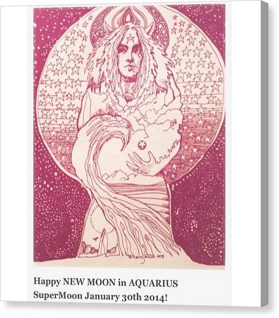 Venus Canvas Print - The Aquarius New Moon On January 30 Is by Kendra Russo
