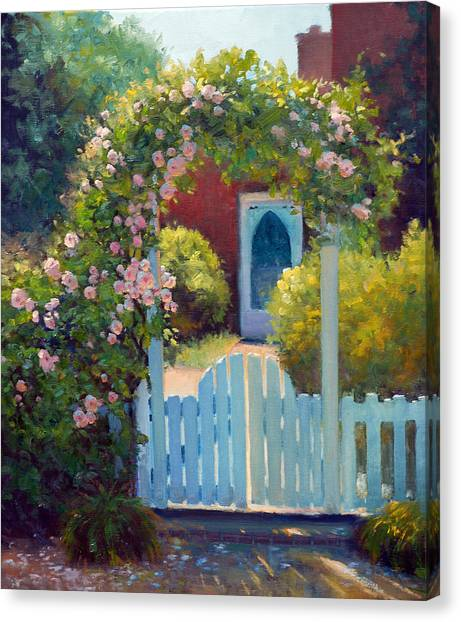 Arbor Canvas Print - The Arbor Gate by Armand Cabrera