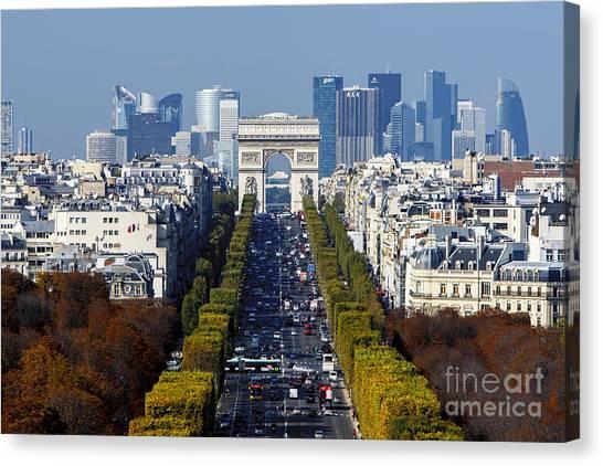 The Arc De Triomphe Paris France Canvas Print