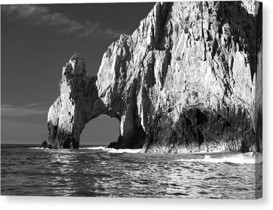 The Arch Cabo San Lucas In Black And White Canvas Print