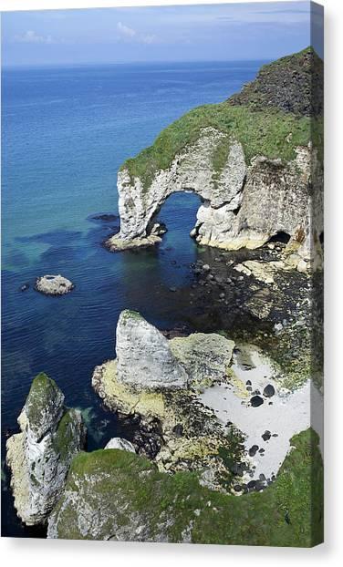 Canvas Print featuring the photograph The Arch Of The North Coast Northern Ireland by Georgi Djadjarov