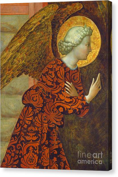 Angel Canvas Print - The Archangel Gabriel by Tommaso Masolino da Panicale