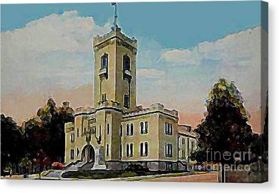 The Armory In White Plains Ny 1923 Canvas Print by Dwight Goss
